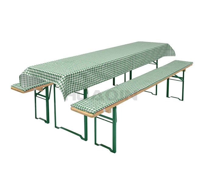 Arched and Closed Beer Bench and Table Cover